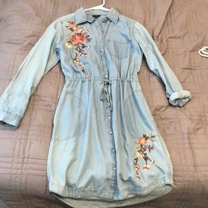 Jean button up dress (with pockets!)